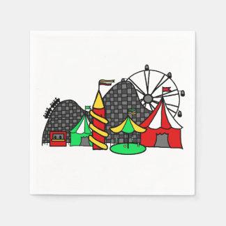 Feria de diversión servilleta de papel