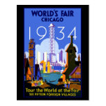 Feria de mundos de Chicago 1934 Tarjetas Postales