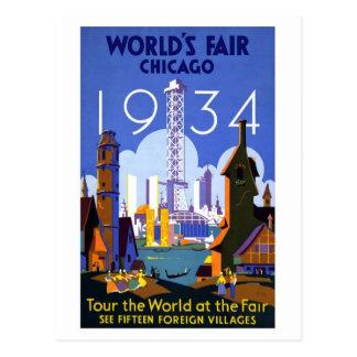 Feria de mundos del vintage Chicago 1934 Postales