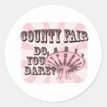 Feria del condado pegatinas redondas