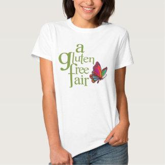 Feria libre del gluten - camiseta del blanco de playeras