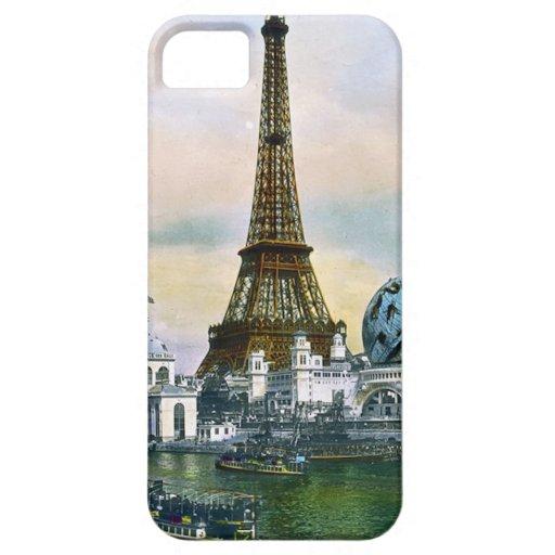 Feria mundial 1889 de París Francia - viaje del vi iPhone 5 Case-Mate Cárcasas