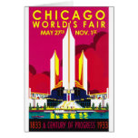 Feria mundial 1933 de Chicago Felicitaciones