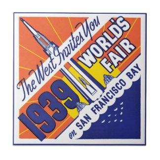 Feria mundial 1939 teja  ceramica