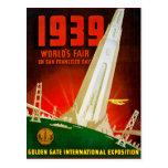 Feria mundial 1939 San Francisco Tarjeta Postal