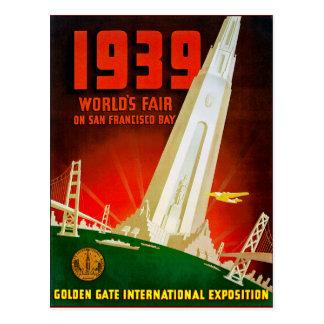 Feria mundial 1939 San Francisco Tarjetas Postales