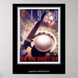 Feria mundial de Nueva York del poster del vintage
