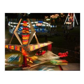 Feria y fuegos artificiales postales