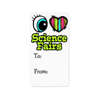Ferias de ciencia brillantes del amor del corazón  etiquetas de dirección