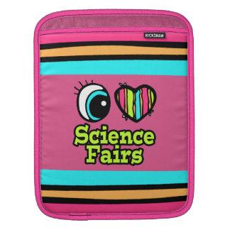 Ferias de ciencia brillantes del amor del corazón mangas de iPad