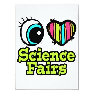 Ferias de ciencia brillantes del amor del corazón invitación 16,5 x 22,2 cm
