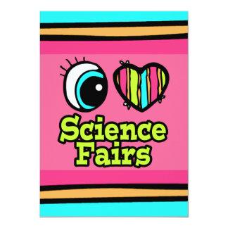 Ferias de ciencia brillantes del amor del corazón invitación 11,4 x 15,8 cm
