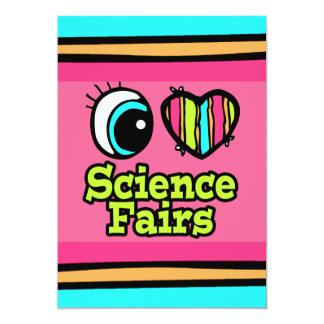 """Ferias de ciencia brillantes del amor del corazón invitación 5"""" x 7"""""""