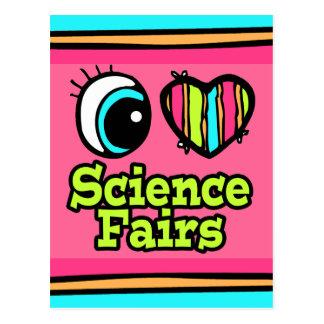 Ferias de ciencia brillantes del amor del corazón tarjetas postales