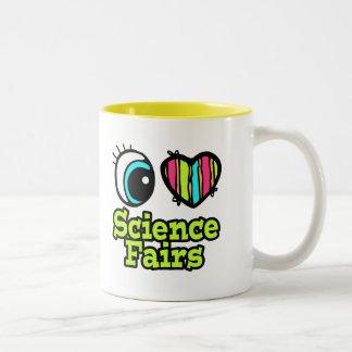 Ferias de ciencia brillantes del amor del corazón  taza