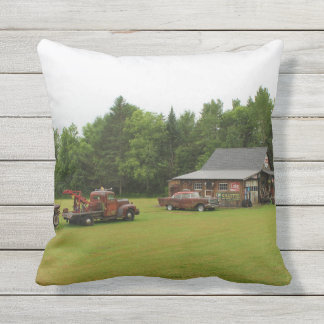 Ferland Motor Company Museum Summer 2016 Throw Pillow