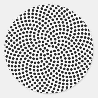Fermat's Spiral Classic Round Sticker