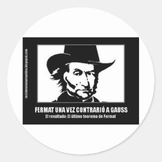 Fermat versus Gaussian Classic Round Sticker