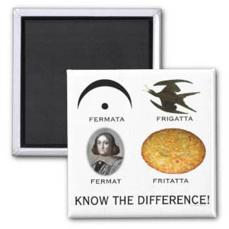 Fermatta: Know the Difference 2 Inch Square Magnet