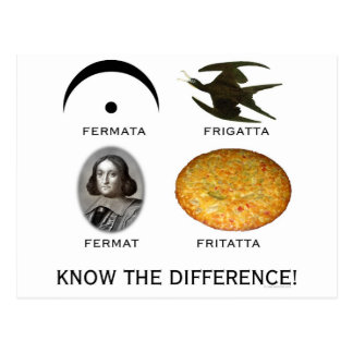 Fermatta: Know the Difference Postcard