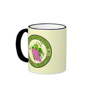 Fermentación de uvas tazas