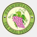 Fermentation of Grapes Classic Round Sticker