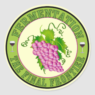 Fermentation of Grapes Classic Round Sticker