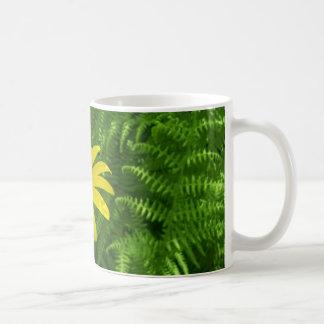 Fern and flower mug