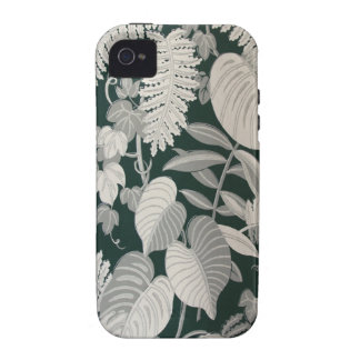 Fern and Leaf wallpaper c 1950 Vibe iPhone 4 Cases