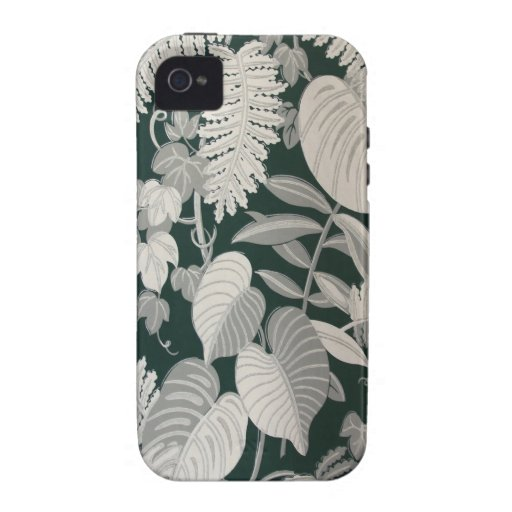 Fern and Leaf wallpaper, c. 1950 Vibe iPhone 4 Cases
