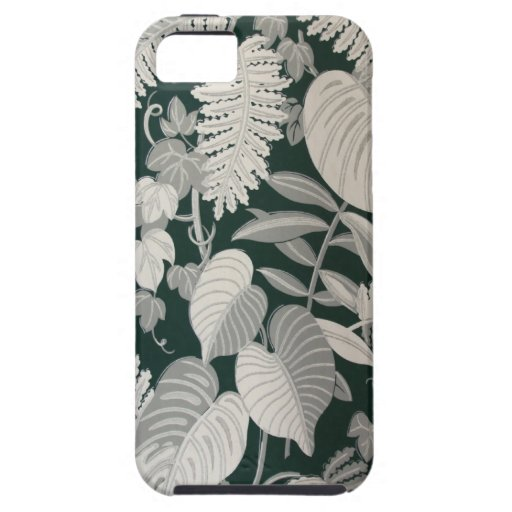 Fern and Leaf wallpaper, c. 1950 iPhone 5 Cases