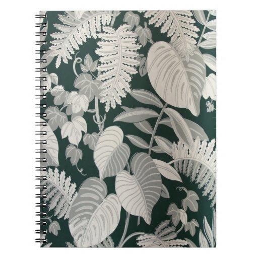 Fern and Leaf wallpaper, c. 1950 Spiral Note Book
