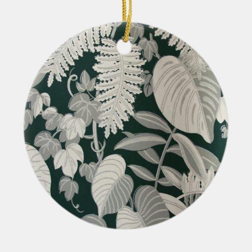 Fern and Leaf wallpaper, c. 1950 Christmas Tree Ornament