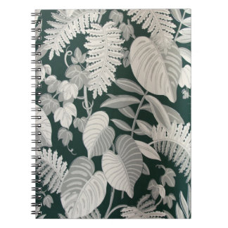 Fern and Leaf wallpaper, c. 1950 Spiral Notebook