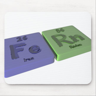 Fern as Iron Fe and Radon Rn Mouse Pads