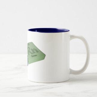 Fern as Iron Fe and Radon Rn Two-Tone Coffee Mug