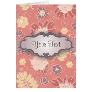 Fern Floral on Pink with Nameplate Card