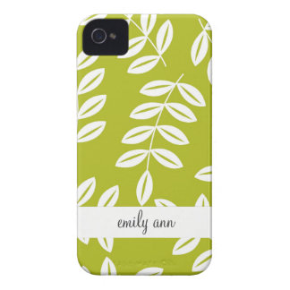 Fern Foliage on Olive Green Pattern iPhone 4 Case-Mate Cases