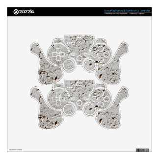 Fern Fossil Tile Surface Closeup PS3 Controller Decal