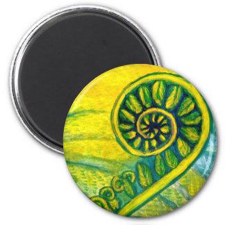 Fern Frond 2 Inch Round Magnet