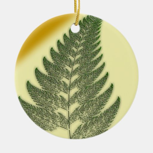 Fern Frond Christmas Ornament