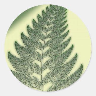 Fern Frond Classic Round Sticker