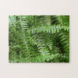Fern Fronds I Green Nature Jigsaw Puzzle