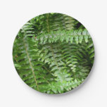 Fern Fronds I Green Nature Paper Plate