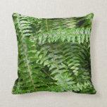 Fern Fronds I Green Nature Throw Pillow