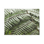 Fern Fronds II Dark Green Nature Doormat
