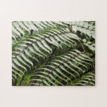 Fern Fronds II Dark Green Nature Jigsaw Puzzle