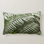 Fern Fronds II Dark Green Nature Lumbar Pillow