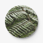 Fern Fronds II Dark Green Nature Paper Plate