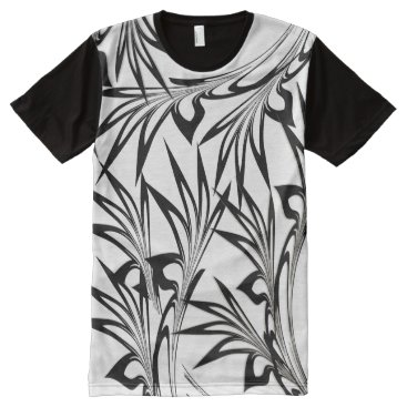 Hawaiian Themed Fern Glen All-Over-Print T-Shirt